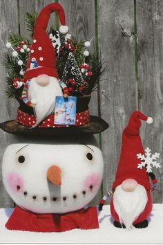 Let's Be Snomies - Snowman w/Gnome PATTERN HHF517