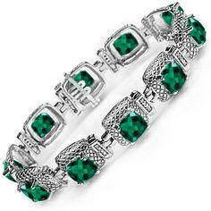 Kay - Lab-Created Emerald Bracelet White Gold