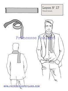 Pour un homme ou une femme comment porter un foulard ou une écharpe style casual décontracté, un tutoriel pour nouer son foulard.
