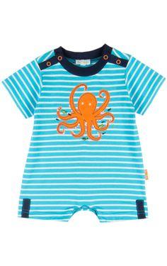 Le Top 'Ocean Adventure' Octopus Stripe Romper