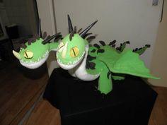 Schnittmuster – der wahnsinnige Zipper Drache nähen (Hideous Zippleback), Stofftier, Kuscheltier DIY, inspiriert von Drachen zähmen leicht gemacht