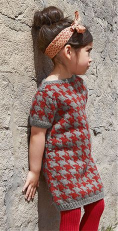 Bergere de France Short Sleeve Dress Pattern. 2-8 years