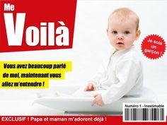 Le faire-part de naissance me voilà ! Parodie du plus célèbre des magazines... Retrouvez-le par ici ! http://www.starbox.com/carte-virtuelle/faire-part-de-naissance/faire-part-naissance-magazine-garcon