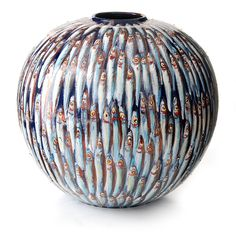 Beautiful decorated #vase soon available at GALLERIA J in San Gimignano, Italy