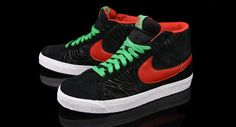 """Nike SB Blazer Mid """"A Tribe Called Quest"""" 1 colors from the old tribe called quest album art. so nice Tribe Called Quest Albums, A Tribe Called Quest, Nike Outfits, Nike Dunks, Nike Sb, Shoe Collection, Kicks, Street Wear, Footwear"""