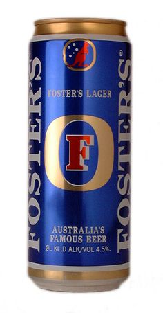 Foster's Lager is an internationally distributed Australian brand of beer. It contains alcohol. While international marketing of the beer often focuses on its Australian connections, Foster's does not enjoy widespread popularity in Australia Fosters Beer, The Fosters, Australian Beer, Australian Animals, More Beer, Beers Of The World, Beer Brands, Best Beer, Beer Brewing