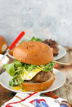 Juicy Bacon and Egg Cheese Breakfast Burgers - BoulderLocavore.com