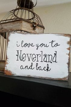I love you to neverland and back wooden sign. This disney peter pan inspired wooden sign would look great in a nursery, your kids bedroom, or would even make a great baby shower gift! Click to see more details on this cute peter pan inspired wooden sign. #disney #peterpan #love #nurserydecor #nurseryideas #walldecor #wallart #wood #signs #disneyland #disneyworld #gifts #baby #kidsroom #babyshowergifts #etsy #etsyshop #ad