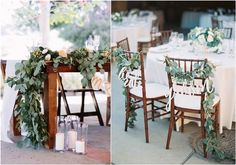 green eucalyptus wedding decor