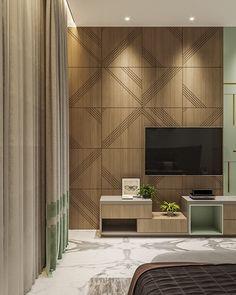 Bedroom Tv Unit Design, Tv Unit Furniture Design, Tv Unit Interior Design, Living Room Partition Design, Living Room Tv Unit Designs, Tv Wall Design, Bedroom Furniture Design, Home Room Design, Modern Master Bedroom