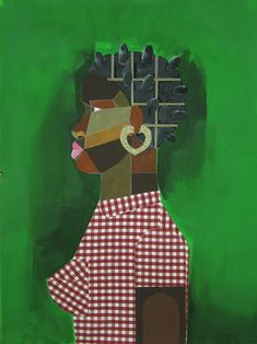 Art by Derrick Adams African American Culture, Queen Of Spades, Culture Club, Green Art, Mixed Media Collage, My Favorite Color, Art Blog, Young Women, Christmas Stockings