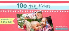 10 Cent 4x6 Prints through Wednesday at Walgreen's Online  (minimum order 75)