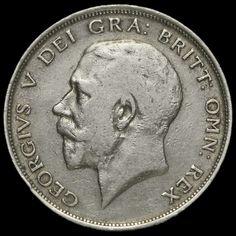1911 George V Silver Half Crown, GF