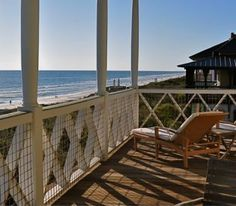awesome porch overlooking the beach - I could stay there a LONG WHILE...