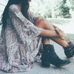 kimono + boots ➸