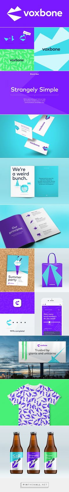 Brand New: New Logo and Identity for Voxbone by Onwards... - a grouped images picture - Pin Them All