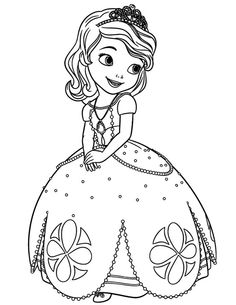 kleurplaat coloring page prinses princess sofia disney