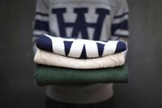 Sweaters: Wood Wood, Fred Perry, Penfield.