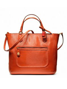 COACH - Coach Poppy textured patent Blair Small Tote