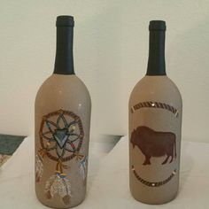 Front and back of bottle.  You can find more of my crafts in my board Native Crafts and Decor.  :)
