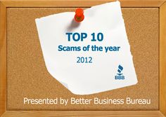 BBB Top 10 Scams of 2012