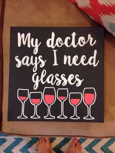 https://www.etsy.com/shop/LillyBySarah  Glasses funny canvas wine Doctor hand painted