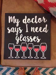 Glasses funny canvas wine