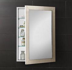 Lovely Frameless Inset Medicine Cabinet