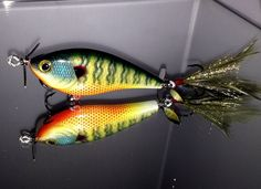 Custom Painted Crank Bait Lucky Craft Kelly J Prop Bait Bad Ass Bream