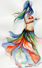 Dance Paintings, Indian Art Paintings, Dancer Drawing, Bd Art, Jolie Photo, Dance Art, Belly Dancers, Art Drawings Sketches, Watercolor Paintings