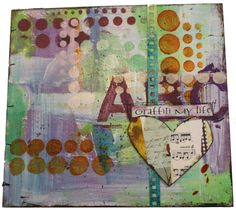 I really had a great time spraying away on this journal. Dina Wakley's online class is excellent especially if you like this grungy look ...