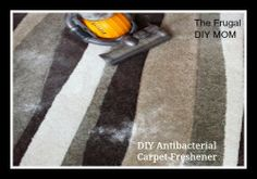 AWESOME way to clean or freshen carpets, has an antibacterial quality! Smells SO good! Check it out! ~ The Frugal D.I.Y. Mom ~