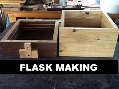 "Hi,In order to do Sand Casting one needs a proper ""Flask"" to contain the sand mold so you can pour your metal. This instructable shows you exactly how I. Sand Casting Aluminum, Metal Casting Molds, Metal Projects, Metal Crafts, Diy Forge, Investment Casting, Small Cafe Design, Forging Metal, Forging Tools"