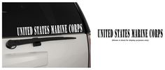 United States Marine Corps (USMC) Long Banner Strip Indoor/Outdoor Matte Removable Vinyl Decal Sticker, MultiPurpose - For Your Auto, Wall, Window and More!  Purchase this product along with all of our other spectacular decals through one of the following links:   https://www.etsy.com/shop/MiaBellaDesignsWI  http://www.amazon.com/s?marketplaceID=ATVPDKIKX0DER&me=A2MSEOIVL689S1&merchant=A2MSEOIVL689S1&redirect=true