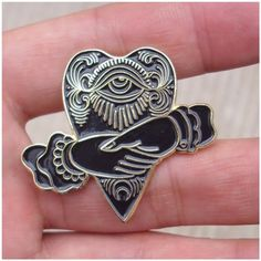 """Planchette and Hand Shake design 1.5"""" tall Black and Gold Limited to 100 pieces ***"""