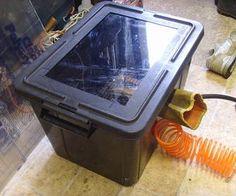 Homemade Shot/Grit Blasting Cabinet