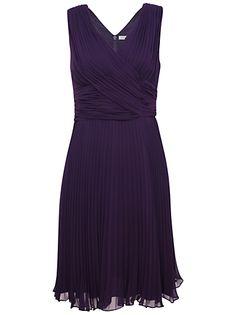 Buy Kaliko Marilyn Dress, Dark Purple online at JohnLewis.com - John Lewis