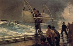 The Signal of Distress, Oil On Canvas by Winslow Homer (1836-1910, United States)