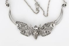 Death Moth Necklace by Sparrow & Co Jewellery.