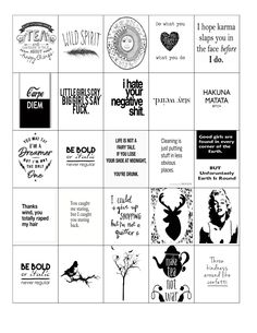 printable black and white planner stickers I've made
