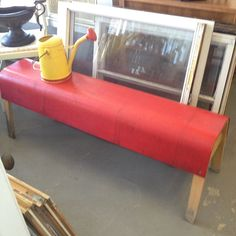 Fun Red Bench.
