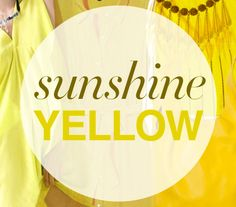 On Trend: Sunshine Yellow High Fashion Looks, My Design, Graphic Design, Day And Time, Shades Of Yellow, Me Too Shoes, Cool Designs, Sunshine, Neon