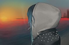 for_what_it_s_worth__by_boogsss-d3j3muo.png Punk girl smoking a cigarette looking out over the ocean