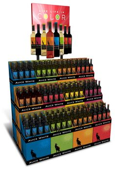 Chromatic Wine Displays - Alice White's Stacking Retail Display Puts Color First (GALLERY)