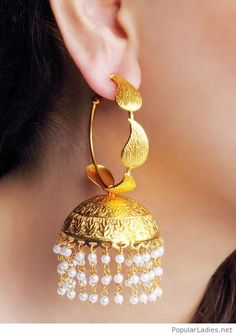 Pin by mj lee on accessories/장신구 индийские украшения, Antique Jewellery Designs, Gold Earrings Designs, Gold Jewellery Design, Antique Jewelry, Fancy Jewellery, Jewellery Shops, India Jewelry, Pearl Jewelry, Wedding Jewelry