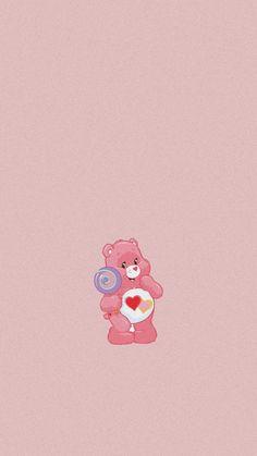 care bear- love a lot bear💗 Pink Retro Wallpaper, Cute Wallpaper For Phone, Bear Wallpaper, Cute Patterns Wallpaper, Cute Wallpaper Backgrounds, Pretty Wallpapers, Cute Cartoon Wallpapers, Cool Wallpaper, Iphone Wallpaper Vsco