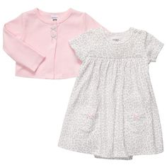 Carters Baby Girls 2Piece Bodysuit Dress Set Newborn Pink *** You can find out more details at the link of the image.