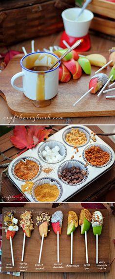 Set up a DIY caramel apple bar because it's fall y'all!