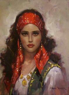 f Gypsy Seer Traveler portrait Santa Sara, Image Blog, L'art Du Portrait, Gypsy Women, Gypsy Girls, Pirate Woman, Pirate Art, Pirate Wench, Art Education