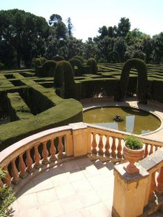 Parc del Laberint d'Horta / Horta Labyrinth. Barcelona, Catalonia